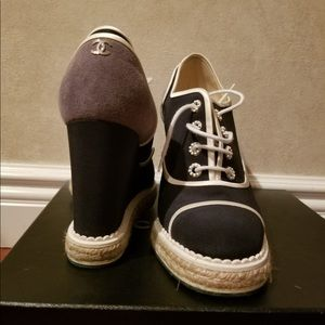 Authentic Chanel cruise Espadrille Wedge size 42